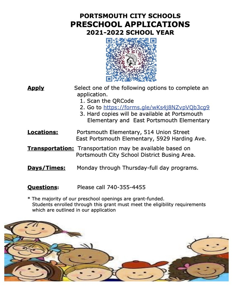 PCSD Preschool Applications